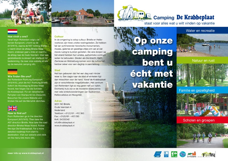 Folder Camping De Krabbeplaat